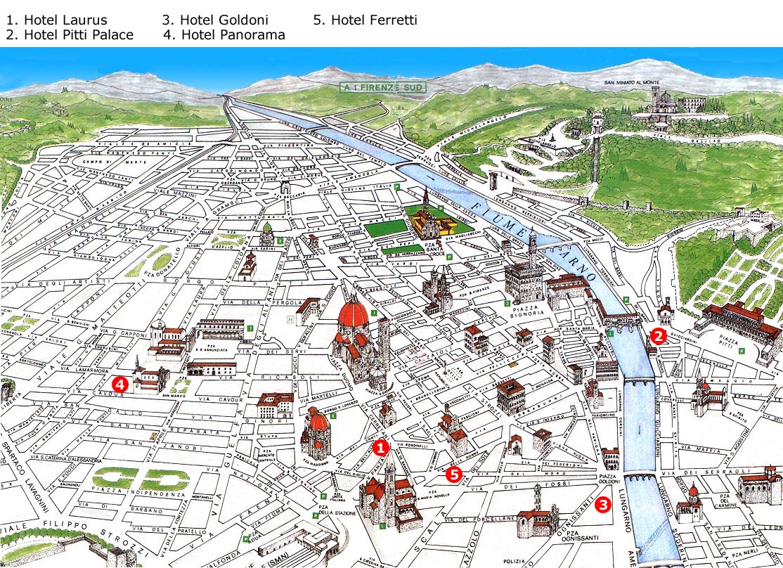 florence karta Continent Holiday & Travel florence karta