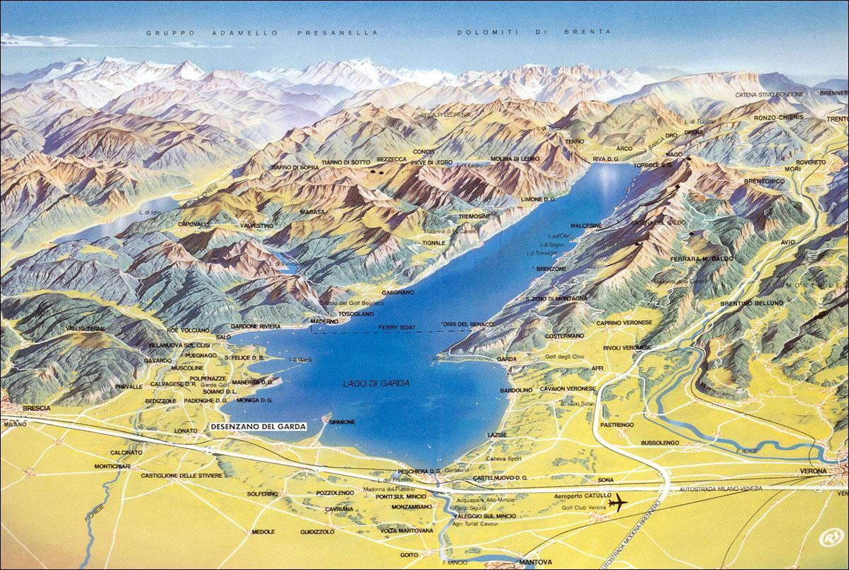 gardasjön karta Continent Holiday & Travel gardasjön karta