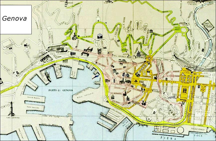 Italien Karta Genova.Continent Holiday Travel