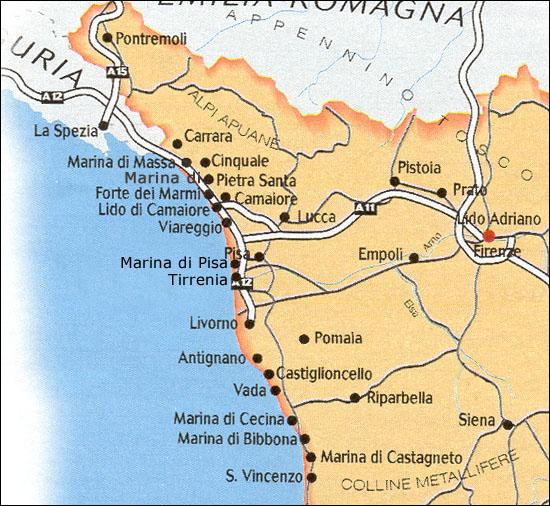italien pisa karta Continent Holiday & Travel italien pisa karta