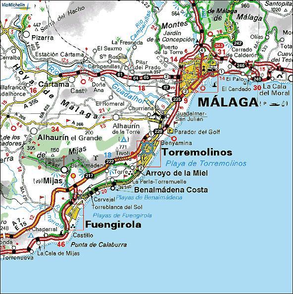 torremolinos karta Continent Holiday & Travel torremolinos karta